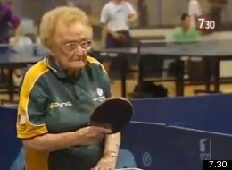 Dorothy Delow still plays table tennis regularly, despite being over 100