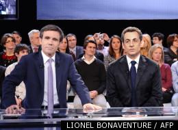 David Pujadas et Nicolas Sarkozy le 6 mars 2012
