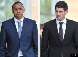 Footballer Clayton McDonald, left, has been cleared but Wales striker Ched Evans has been found guilty of rape