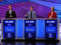 None of the contestants on Jeopardy were able to identify Stephen Harper as the answer to a question on Thursday night's show.