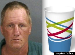 Mark Abaire allegedly stole a cup of soda at a Naples McDonald's -- now he's charged with felony theft.