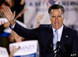 Le candidat républicain Mitt Romney lors d'un discours à Manchester, Etats-Unis le 24 avril 2012
