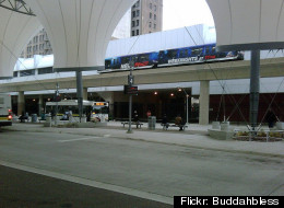 The Rosa Parks Transit Center in downtown Detroit. Flickr photo by Buddahbless.