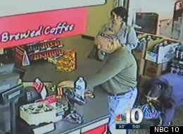 Stephanie Paparo confessed to stealing money dropped by Jim Duffy at a Philadelphia-area WaWa convenience store, as captured in this surveillance footage.