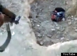 The video clip of an activist being buried alive was posted by sympathisers to the uprising