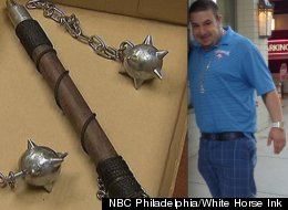 Roberto Vazquez allegedly used this weapon to attack a utility worker who was trying to shut off his electric.