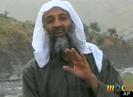 Osama bin Laden is seen in this image broadcast Wednesday, April, 17, 2002, by the London-based Middle East Broacasting Corp.  (AP Photo/MBC via APTN)