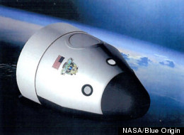 Artist's illustration of the orbital crew-carrying spaceship planned by the private company Blue Origin