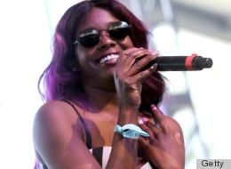 Azealia Banks performing at Coachella 2012.