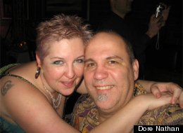 Cristina Nathan-McAlister had an allergic reaction to hairbands that were labeled as silicone but in fact contained latex. She is pictured here with her husband, Dore.
