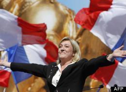 Marine Le Pen le 1er mai 2012 à Paris.