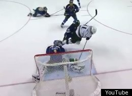 Kings' Anze Kopitar scored on a short-handed goal against the Blues in Game 2.