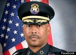 Police Chief Ralph Godbee Jr. said the Detroit crime rate is up in the first quarter of 2012 at a community meeting in the city on Monday, April 30, 2012.