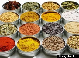Indian spice collection from Etsy seller Craig Lantz.