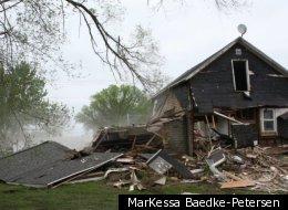 A Minnesota company used a tank to demolish an abandoned house.