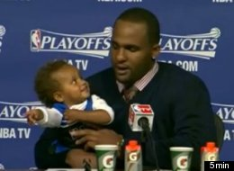 Glen Davis' daughter Amari stole the show at his postgame press conference following a Game 3 loss to Indiana.
