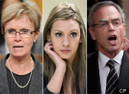 More than 100 first-time MPs were elected on May 2, 2011, in one of the biggest and most diverse groups of rookies to ever take their seats in the House of Commons. Ruth Ellen Brosseau, centre, had never even stepped foot in her Quebec riding and made headlines when it was revealed she was on vacation in Las Vegas during the election campaign. (CP)