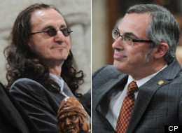 The band Rush dropped in on MPs Thursday in Question Period. Tony Clement drew laughs by quoting lyrics from the band's songs in his answers. (CP)