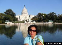 Kalsum Pangkey, now detained by Immigration and Customs Enforcement, on a visit to Washington, D.C.