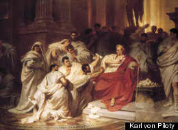 The Murder of Caesar by Karl von Piloty. Image courtesy of <a href=