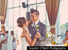 From the sunny photo shoot in the park, to the wedding's brightly colored decor details, this is one fresh and feel-good wedding.