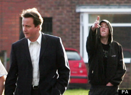 David Cameron during his 'hug a hoodie' days