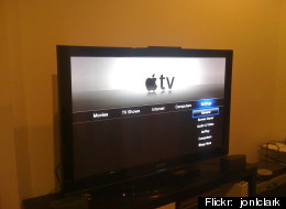 A television set using the Apple TV set-top box. Apple's full-scale television set will apparently begin production soon. Flickr photo by<a href=