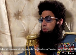 Comedian Sacha Baron Cohen, a.k.a. Admiral General Aladeen of the Republic of Wadiya in The Dictator, appears in a teaser from George Stroumboulopoulos Tonight to discuss Canada's government, free press and Stephen Harper. (YouTube)