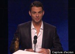 Le jeune Philippe Bond a causé la surprise en mettant la main sur l'Olivier de l'année. (Capture d'écran)