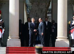 L'ancien président de la République, Nicolas Sarkozy, quitte l'Elysée