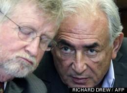 Dominique Strauss-Kahn, au côté de son avocat William Taylor