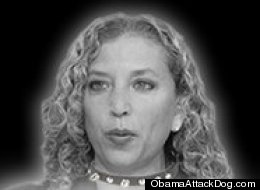 Ozzie deFaria has shown his opponent Debbie Wasserman Schultz in a dog collar.