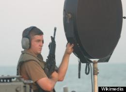 The LRAD aboard the USS Typhoon at Naval Amphibious Base, Little Creek.