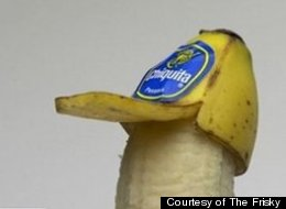 Trucker hats are out for humans, but perfect for bananas.