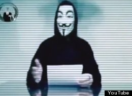 From the video posted on Cyberwarnews.info, purportedly by Anonymous hackers.