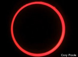 A screenshot from Cory Poole's annular solar eclipse time-lapse video.