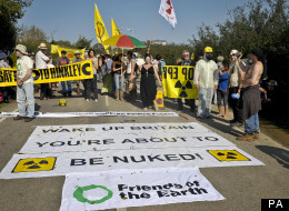Protesters at Hinkley Power Station In 2011