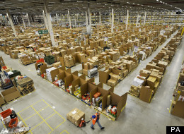 File photo dated 24/11/11 of the Amazon fulfilment centre in Swansea