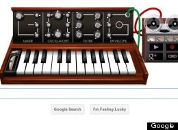 Today's interactive Google Doodle, in honor of Bob Moog.