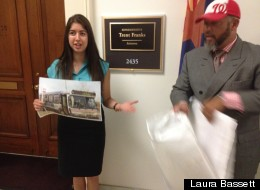 D.C. residents protested at Rep. Trent Franks (R-Ariz.) Capitol Hill office on Wednesday.