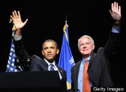Milwaukee Mayor Tom Barrett (D) with President Obama, 2010.