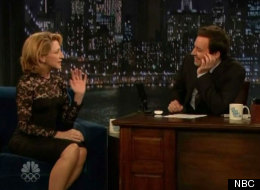 Jimmy Fallon and Edie Falco joke about a