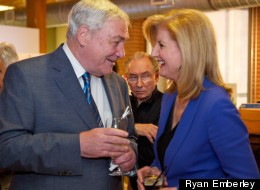 Conrad Black and Arianna Huffington at the Huffington Post Canada's first birthday party. (Photo: Ryan Emberley)