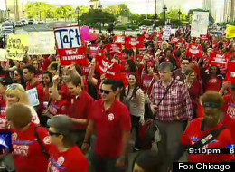 The Chicago Teachers Union took to the streets in downtown Chicago with a strong message for Mayor Rahm Emanuel Wednesday evening.