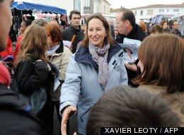 Ségolène Royal sur le marché de La Rochelle le 20 mai 2012