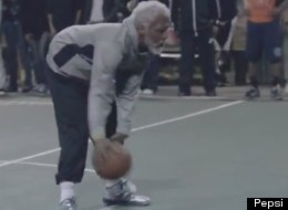 Kyrie Irving transforms into Uncle Drew to fool some unsuspecting players during a pick-up basketball game. (YouTube)
