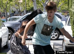 Justin Bieber, above, was reportedly involved in a scuffle with a photographer on Sunday.