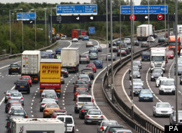 The 70-mile trip would involve the busy M25
