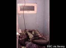 An 11-year-old English boy was forced to stay in this room, just big enough for a filthy mattress, every night for a year.