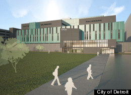 The rendering shows the Detroit Public Safety headquarters. Detroit Mayor Dave Bing joined Police Chief Ralph Godbee and others to break ground on the new $6.3 million facility on Tuesday, May 29, 2012. The building will house the police and fire departments, EMS, homeland security and IT and is set to open in July of 2013.